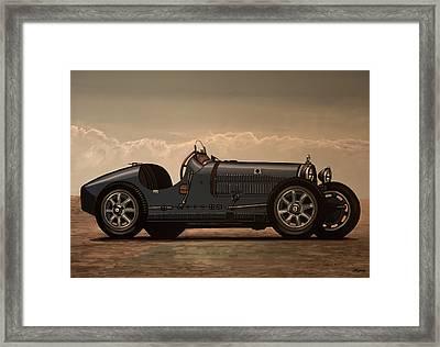 Bugatti Type 35 1924 Mixed Media Framed Print
