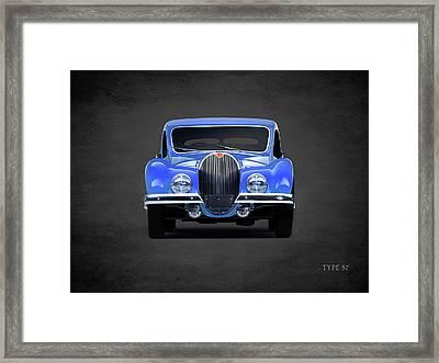 Bugatti Type 57 Framed Print by Mark Rogan