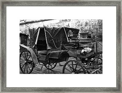 Buggy In Salzburg Framed Print by John Rizzuto