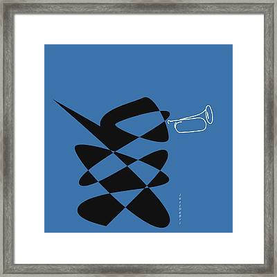 Bugle In Blue Framed Print