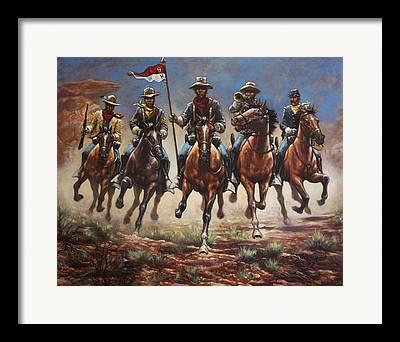 Troops Paintings Framed Prints