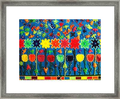 Bugs And Flowers Framed Print by Ricky Gagnon