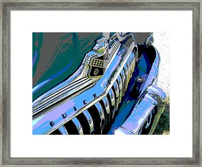Buick Eight Framed Print by Audrey Venute