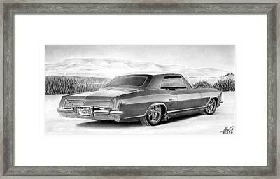 Buick In The Weeds 2 Framed Print by Lyle Brown