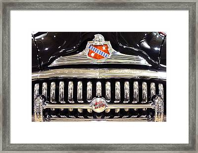 Buick Road Master Grill Framed Print by Mike McGlothlen