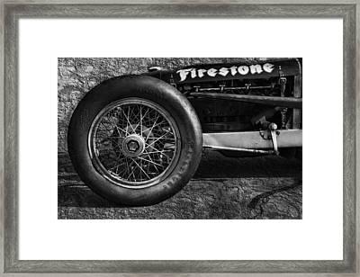 Buick Shafer 8 Bw Framed Print