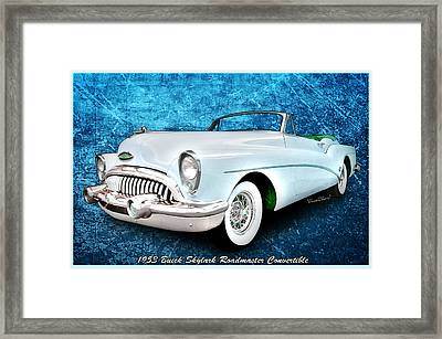 Buick Skylark Roadmaster Convertible For 1953 Framed Print