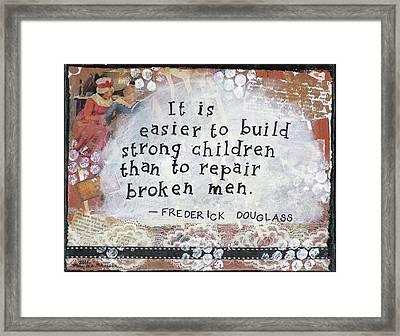 Build Strong Children Framed Print