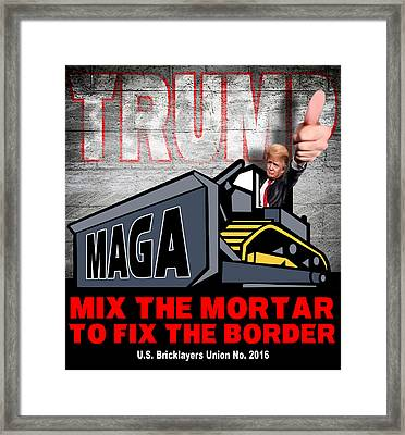 Build The Wall Framed Print by Don Olea