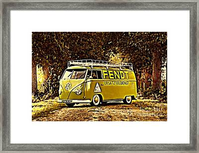 Builders Bus Framed Print by Steven Poulton