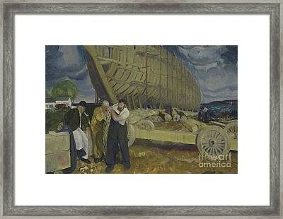 Builders Of Ships Framed Print by George Wesley Bellows