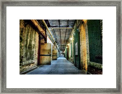 Building 64 Interior - Alcatraz Island Framed Print by Jennifer Rondinelli Reilly - Fine Art Photography