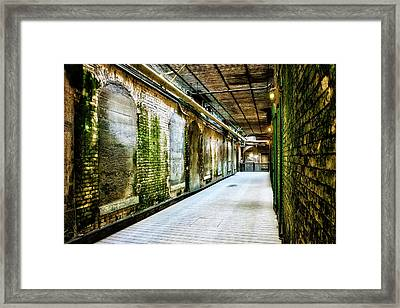Building 64 Interior Hallway - Alcatraz Island Framed Print by Jennifer Rondinelli Reilly - Fine Art Photography