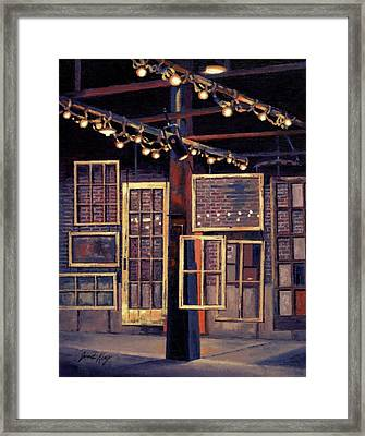 Building 8 At The Factory Framed Print by Janet King