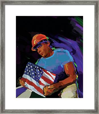 Building America Framed Print by Brad Burns