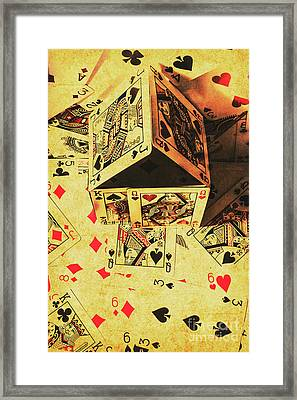Building Bets And Stacking Odds Framed Print