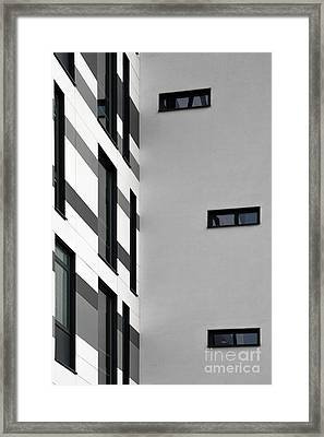 Framed Print featuring the photograph Building Block - Black And White by Wendy Wilton