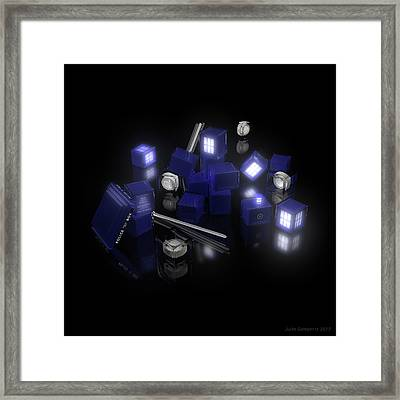 Building Blocks Of Space Time Travel Framed Print