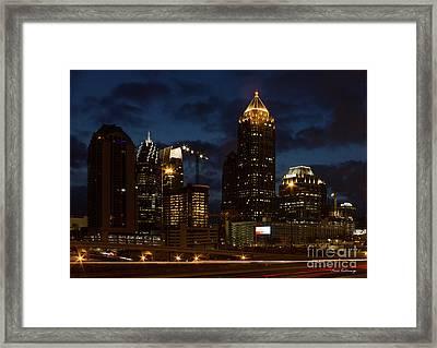 Framed Print featuring the photograph Building Boom Midtown Atlanta Construction Art by Reid Callaway