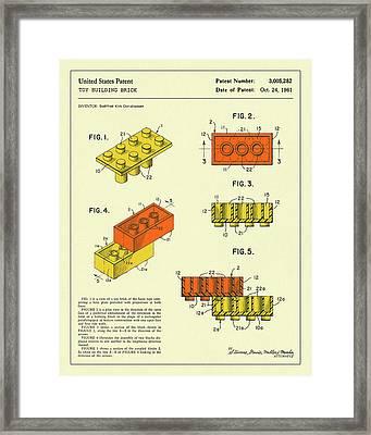 Building Bricks 1961 Framed Print