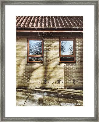 Building Exterior Wall Framed Print by Tom Gowanlock