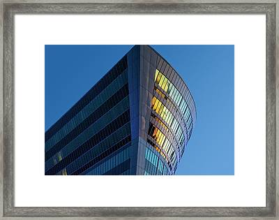 Building Floating In The Sky Framed Print