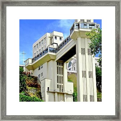 Building In Salvador Brazil Framed Print