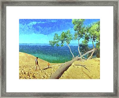Framed Print featuring the digital art Building Memories by Digital Photographic Arts