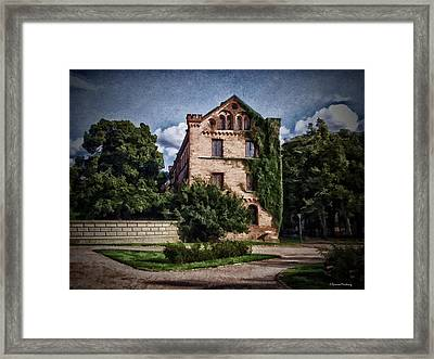 Building Of Lund Framed Print by Ramon Martinez