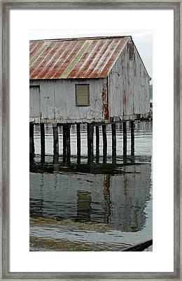 Building Over Water Framed Print by Matthew Adair