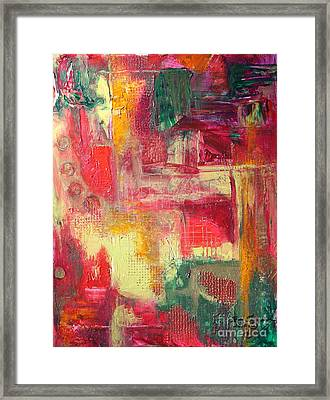 Framed Print featuring the painting Building Red by Terri Thompson