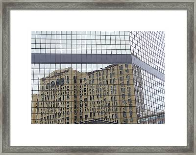 Building Reflection Framed Print by Jean Booth