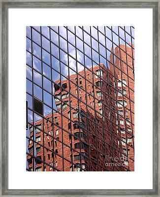 Building Reflection Framed Print by Tony Cordoza