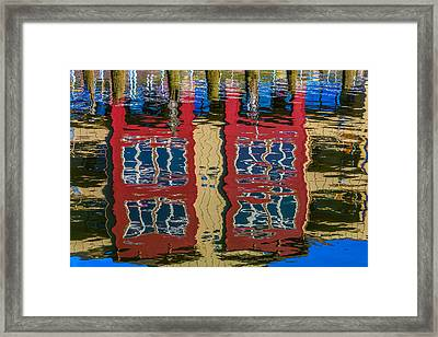 Building Reflections Framed Print by Garry Gay