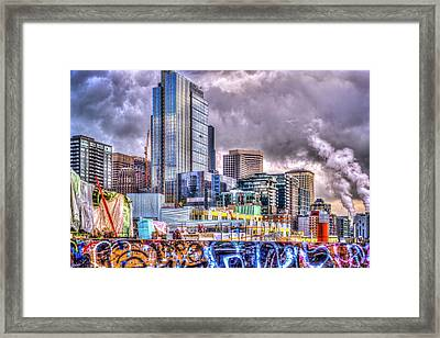 Building Seattle Framed Print by Spencer McDonald