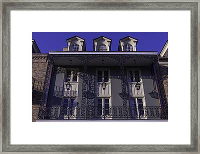 Building Shadows French Quarter Framed Print by Garry Gay