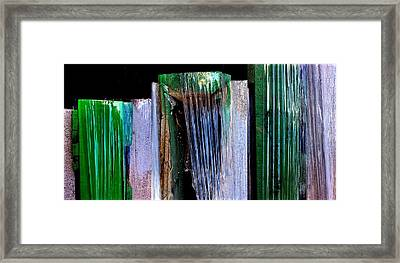 Building Supply Abstracts Framed Print by Marlene Burns