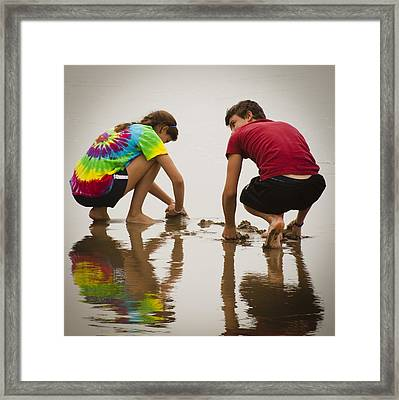 Building The Castle Framed Print by David Patterson