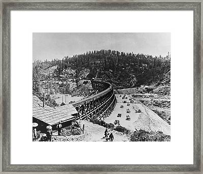 Building The Transcontinental Railroad Framed Print by Omikron