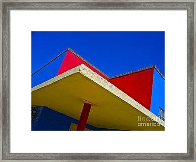 Building Turns Itself Into Mondrian Framed Print by Chuck Taylor