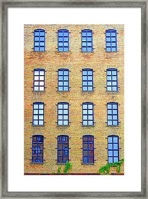 Building Windows Framed Print