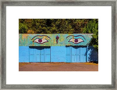Building With Eyes Framed Print by Garry Gay