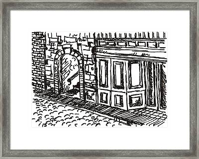Buildings 2 2015 - Aceo Framed Print