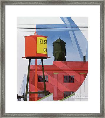 Buildings Abstraction Framed Print by Charles Demuth