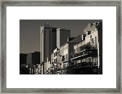 Buildings Along A Street, French Framed Print by Panoramic Images