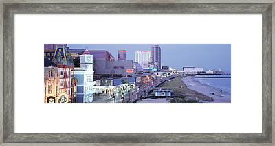 Buildings In A City, Atlantic City, New Framed Print by Panoramic Images