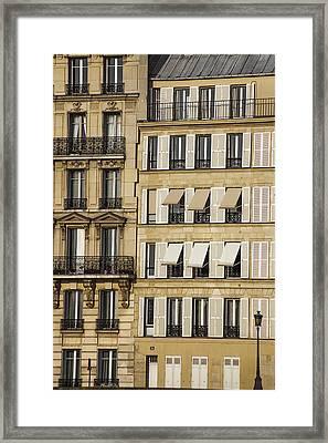 Buildings In Paris Framed Print by Andrew Soundarajan