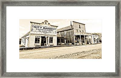 Buildings In The Eighteen Hundreds Town Of Fort Steele Bc Canada Framed Print by Emilio Lovisa