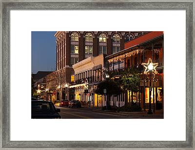 Buildings Lit Up At Dusk, Palafox Framed Print by Panoramic Images