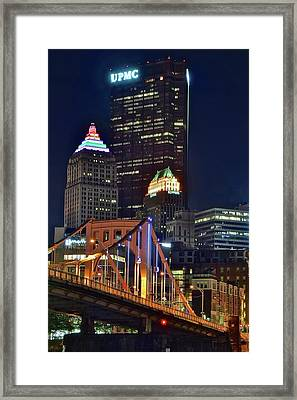Buildings Towering Over Pittsburgh Framed Print